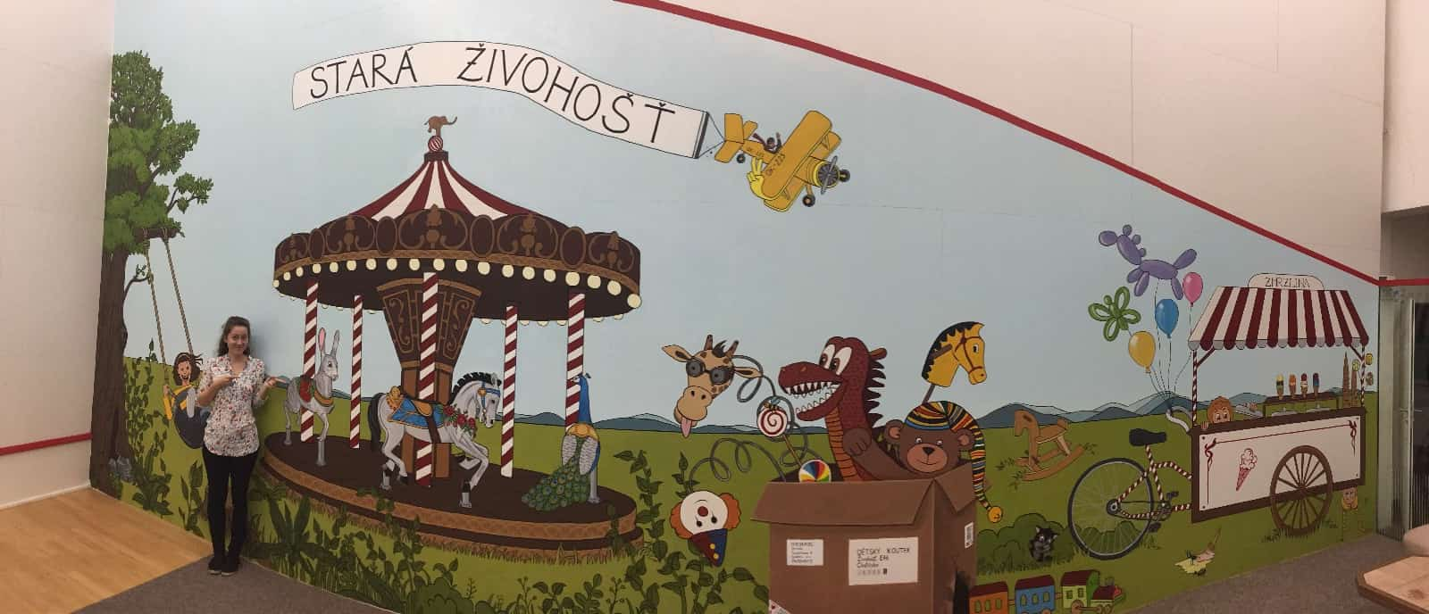 Malba na zeď - panorama