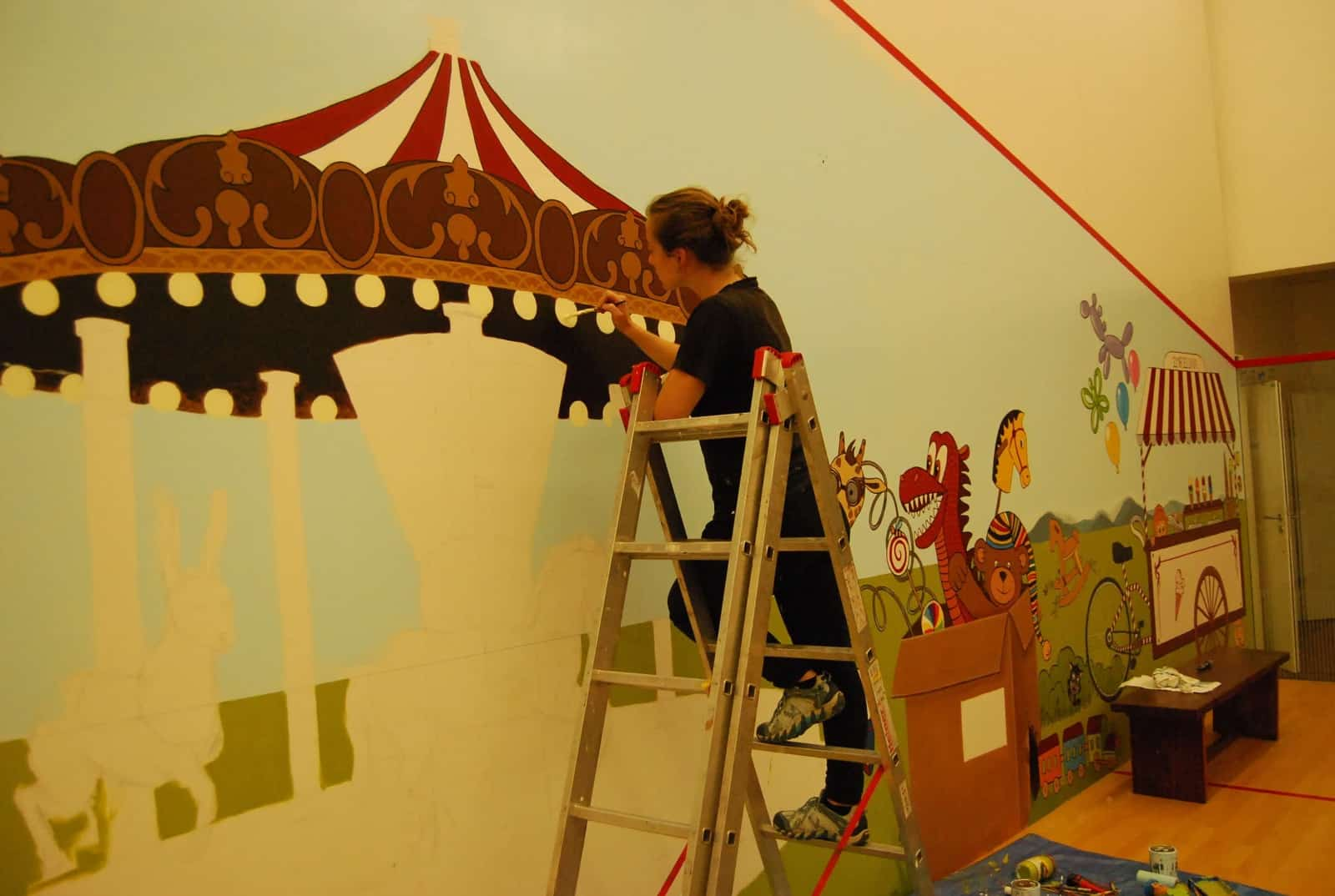 Malba na zeď - Živohošť
